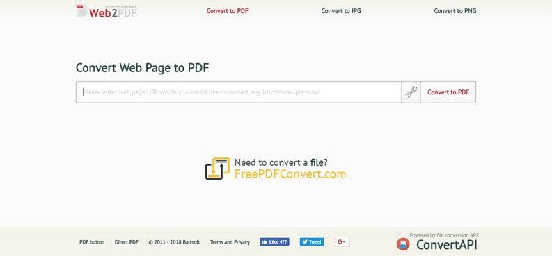 Convert Web Page to PDF: best sites