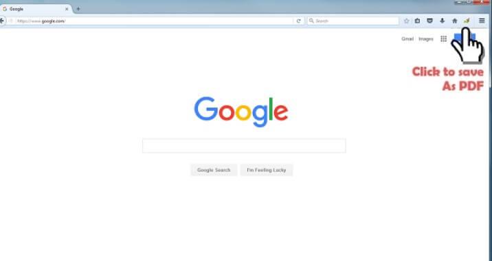 PDF Mage su Firefox per salvare pagine web
