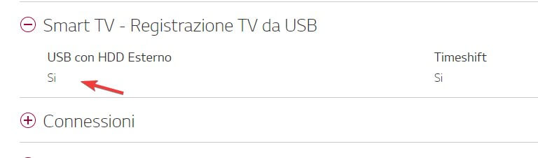 Registrazione USB da TV