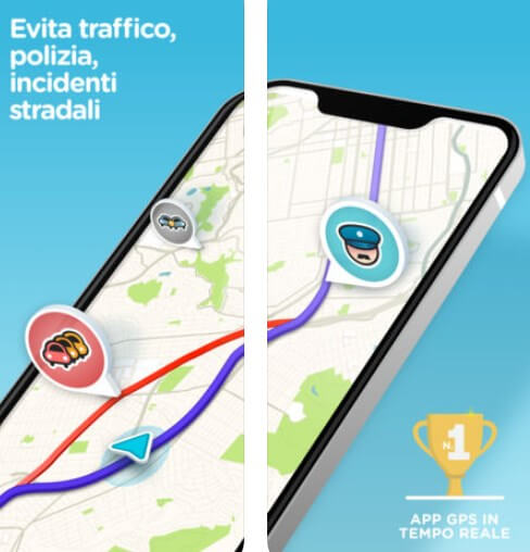 Sistemi d'allerta Waze evita polizia e incidenti