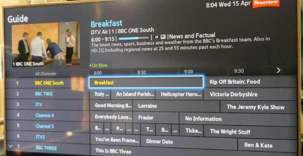 EPG Smart TV