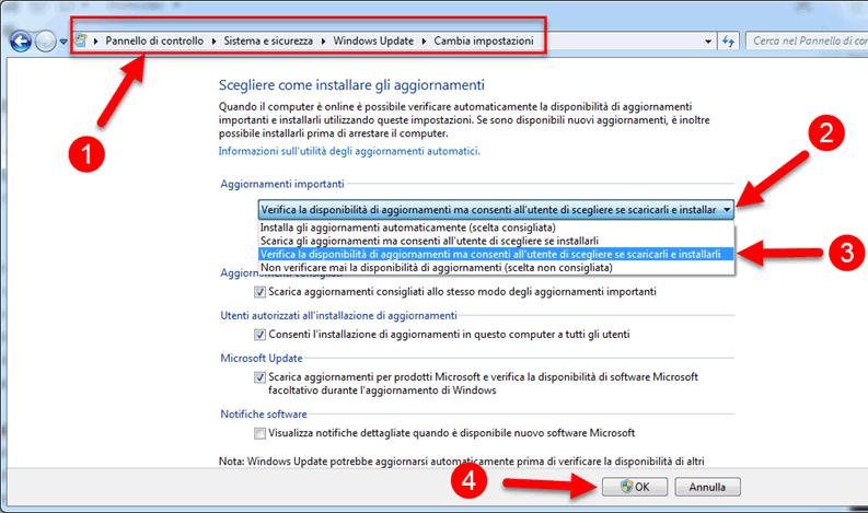pianificare aggiornamenti windows