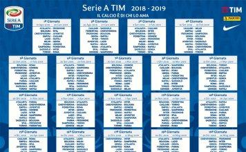 Calendario serie A 2018-19 Tim Calcio