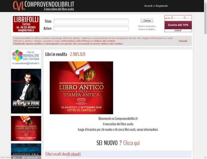 ad444b8428ae37 Compro_Vendo_Libri. Compro_Vendo_Libri. Questo sito si presenta come un  vero e proprio mercatino dell'usato dove ...