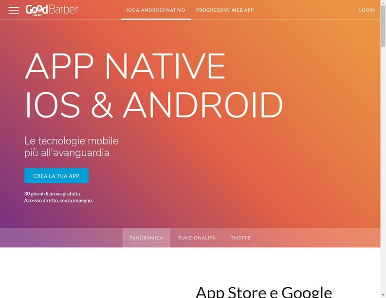 GoodBarber per creare app Android