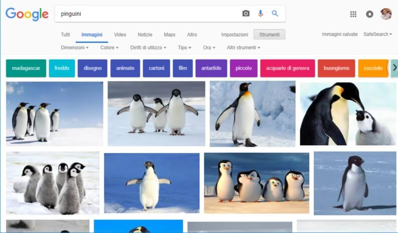 Google Immagini ricerca