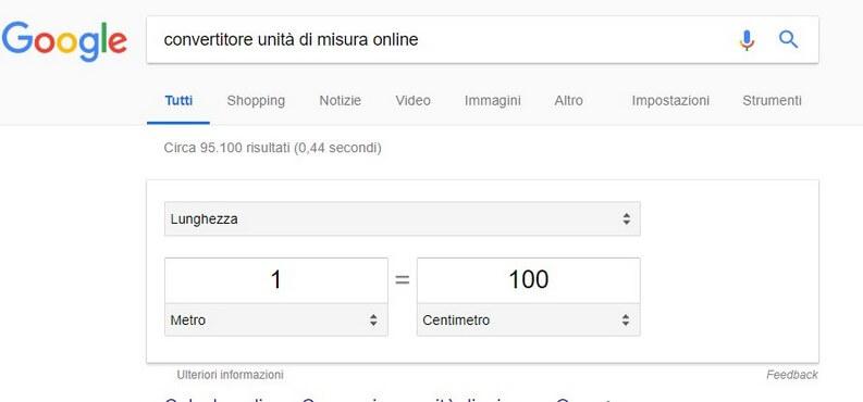 Google convertitore