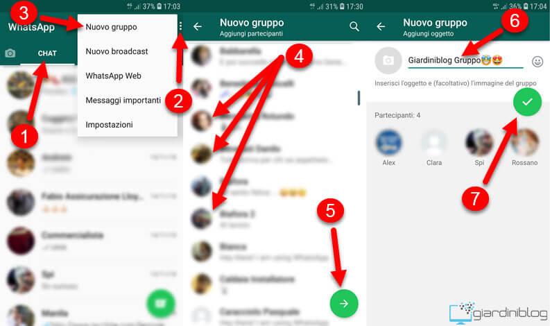 Inviare un messaggio a piu persone su WhatsApp gruppo