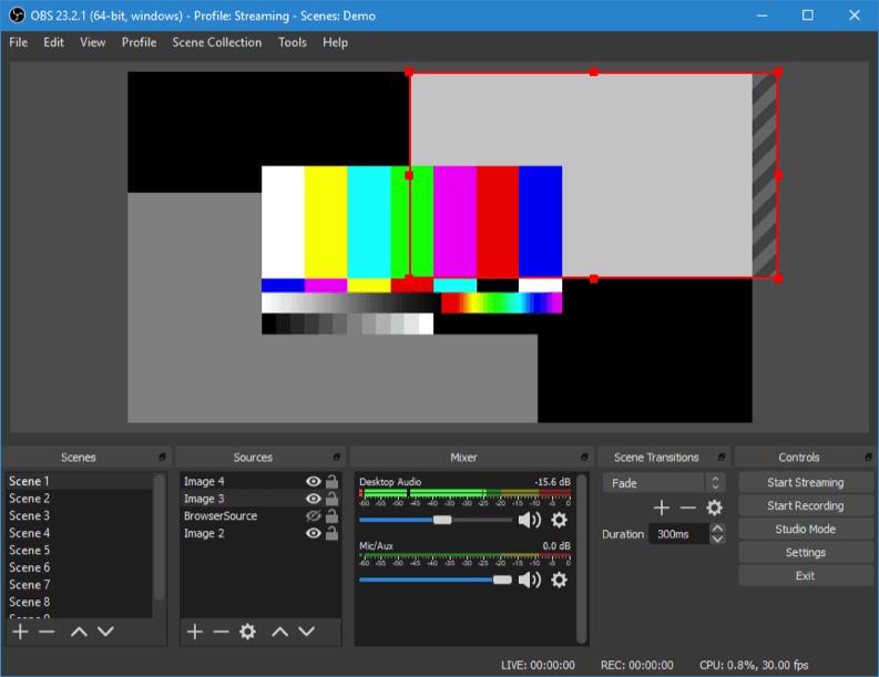 OBS studio registrare schermo computer