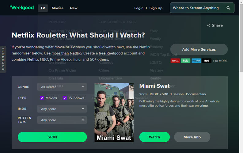 ReelGood Netflix Roulette