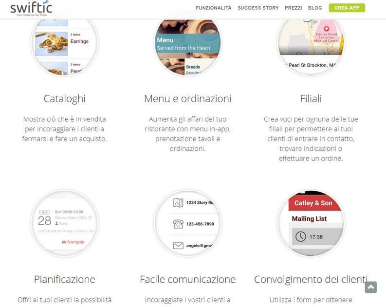 Swiftic servizio per creare app
