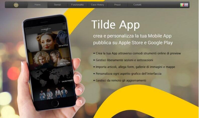 Tilde App integrazione con siti esistenti webapp HTML5