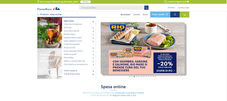 carrefour spesa online