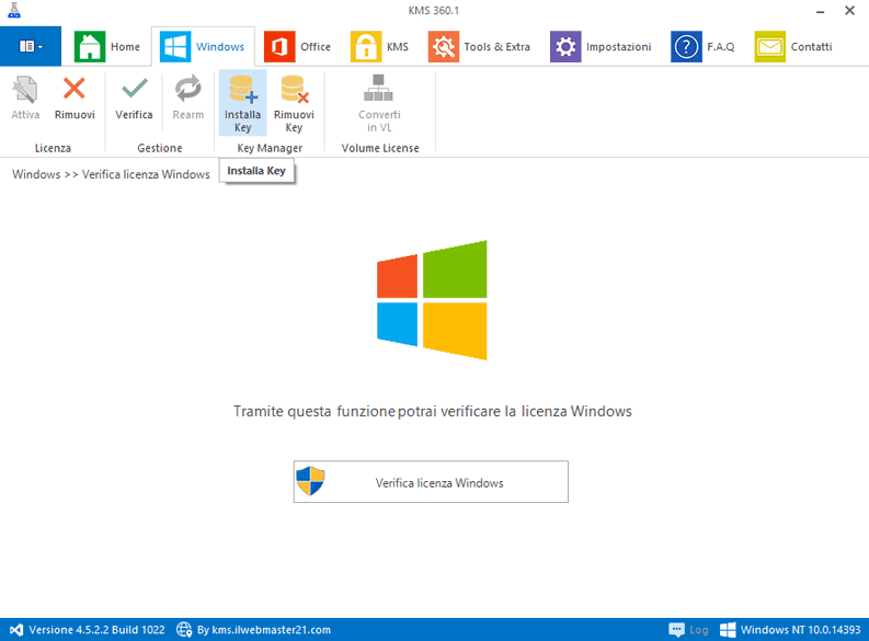 Attivazione Windows 10 con tool kms