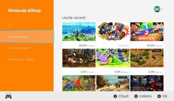 Nintendo eShop cerca Fortnite