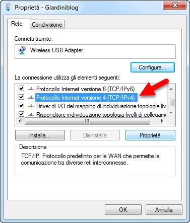 protocollo internet tcp ipv4