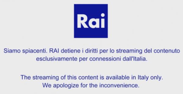 blocco per vedere rai dall'estero in streaming da pc