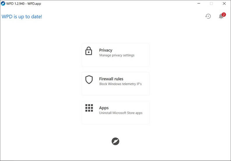 wpd windows 10 privacy tool