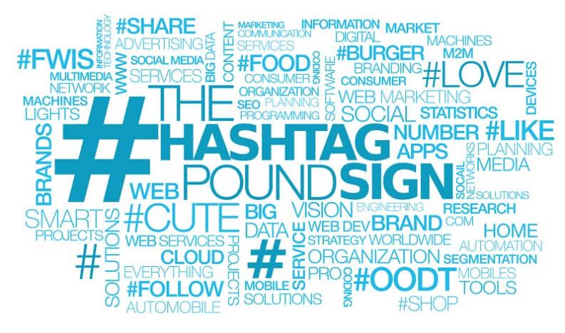 tag e hashtag : alcuni degli hashtag più usati