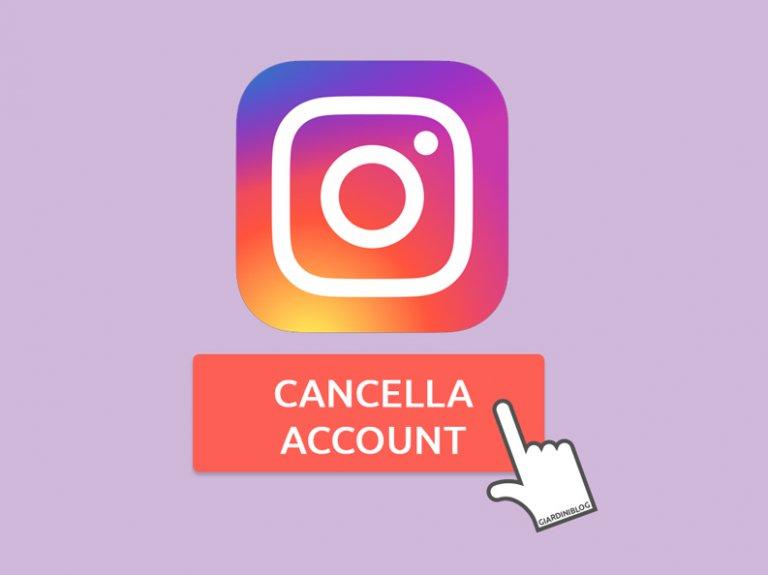 Come eliminare account Instagram, sospenderlo o fare il backup
