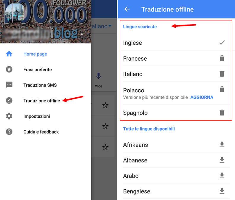 google traduttore offline senza connessione internet