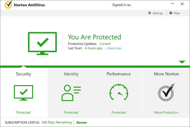 Classifica antivirus: Norton Antivirus