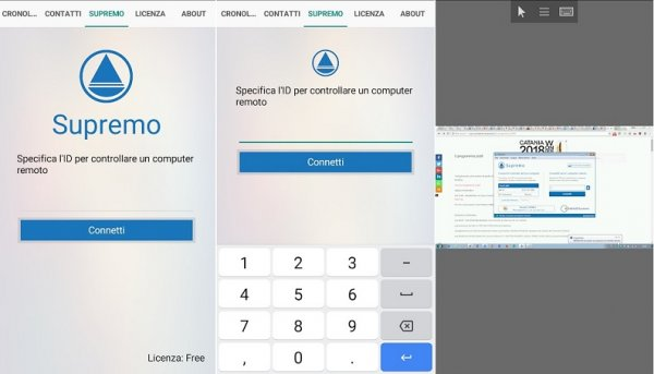 Programmi per controllo remoto: Supremo per Android