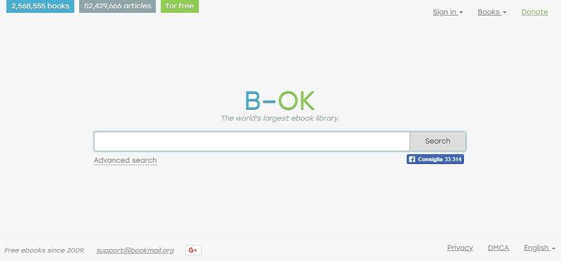Libri PDF gratis con b-ok