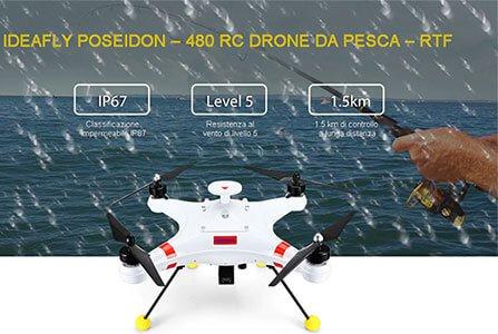 drone da pesca impermeabile