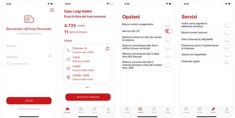 App iIiad Area Personale