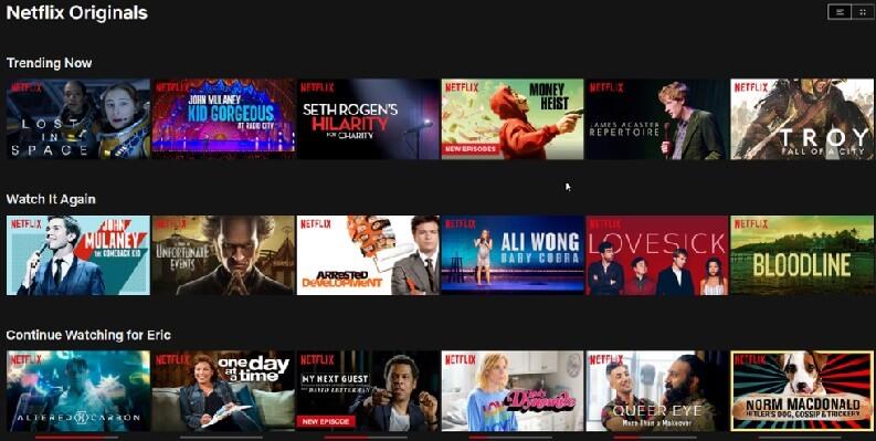 App per serie TV: Netflix