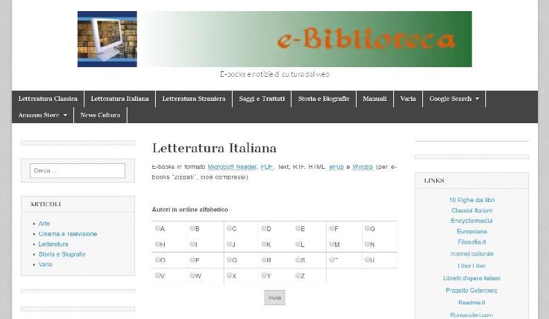 Libri PDF gratis ebiblioteca