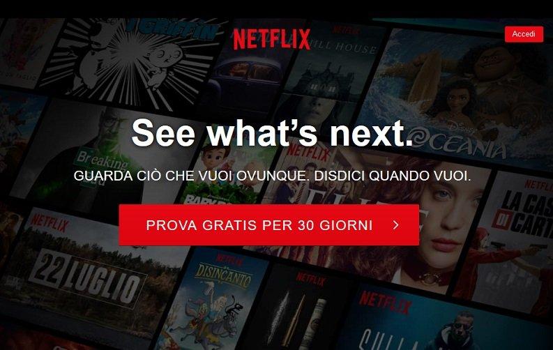 Vedere Netflix: iscrizione
