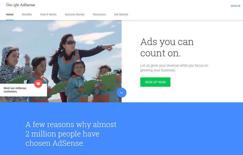 Guadagnare con il blog sito: Adsense