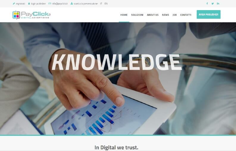 Guadagnare coi blog siti: PayClick