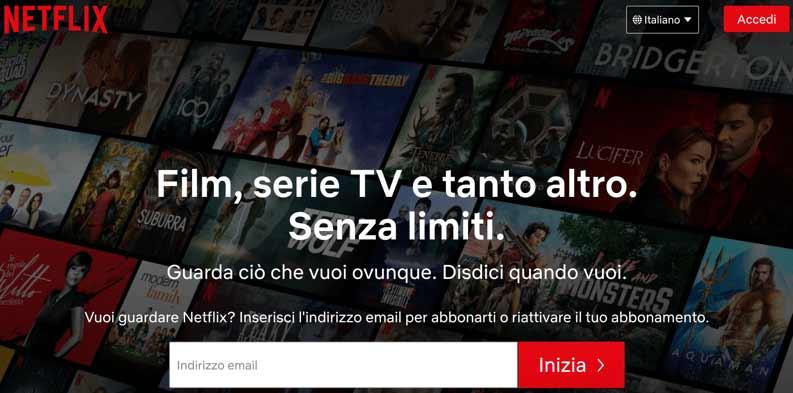 iscriversi a Netflix