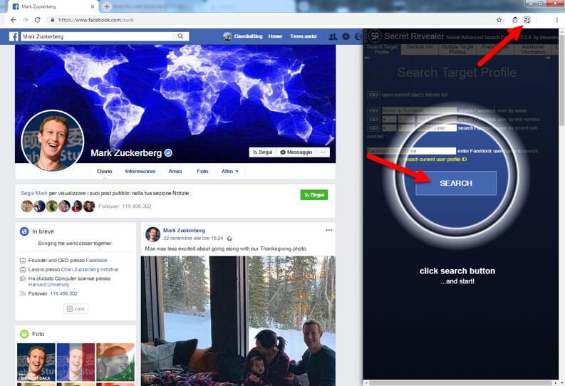 spiare profilo facebook