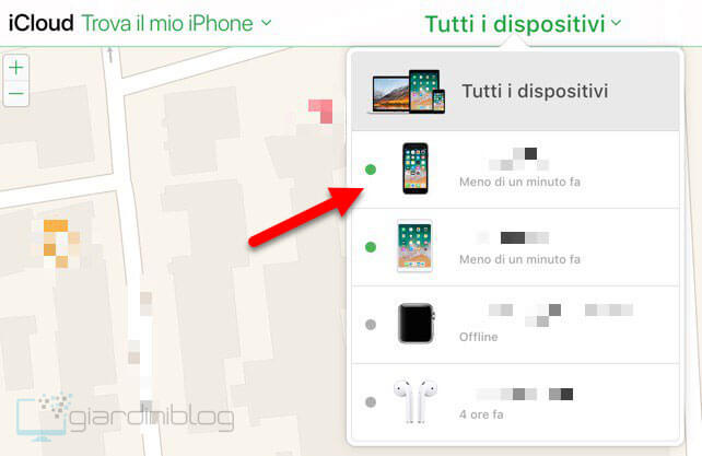 tutti dispositivi trova iphone