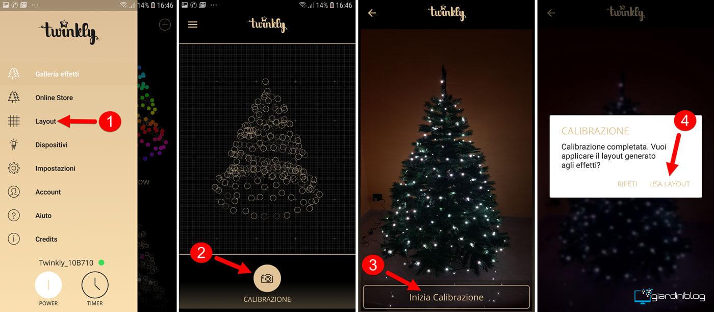 come calibrare twinkly smart decoration