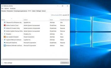 Disabilitare o cambiare l'avvio automatico dei programmi su Windows