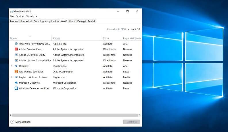 Disattivare o modificare i programmi all'avvio di Windows   GiardiniBlog