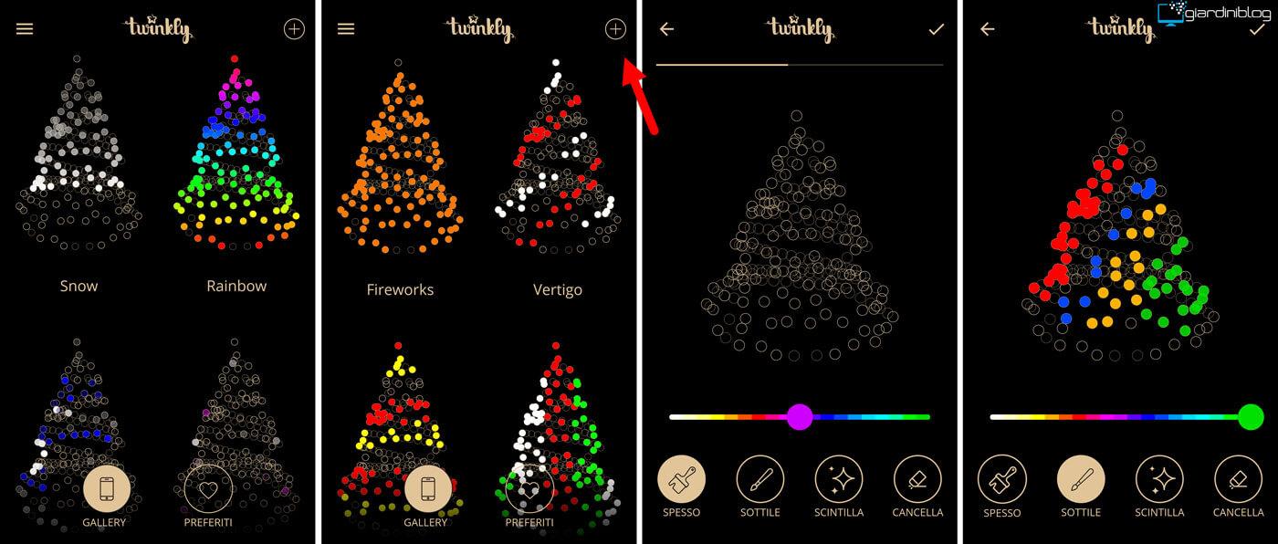 effetti luce twinkly smart decoration