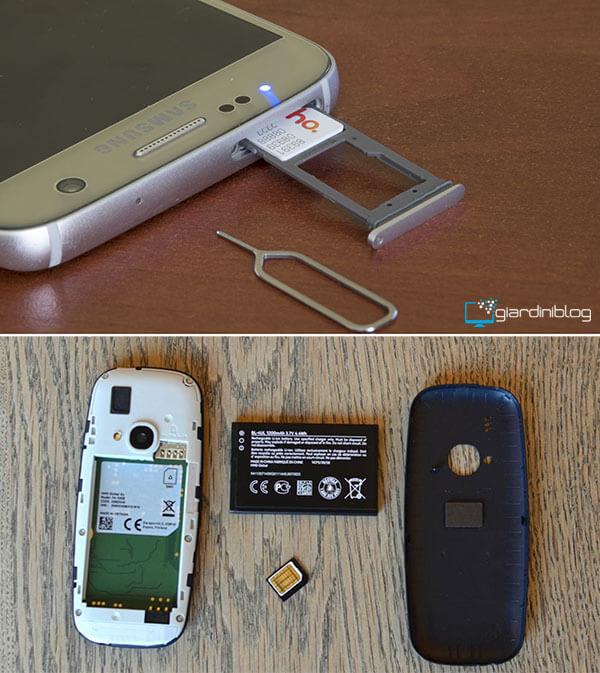 vecchio slot sim nuovo spillo micro nano