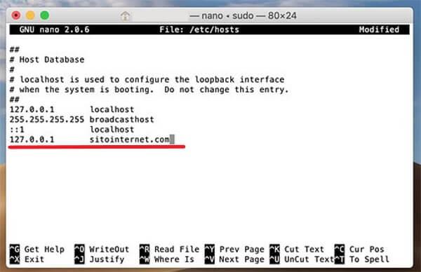 Bloccare un sito su Mac