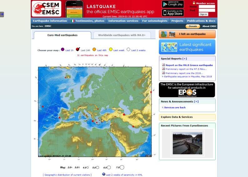Terremoto oggi: CSEM