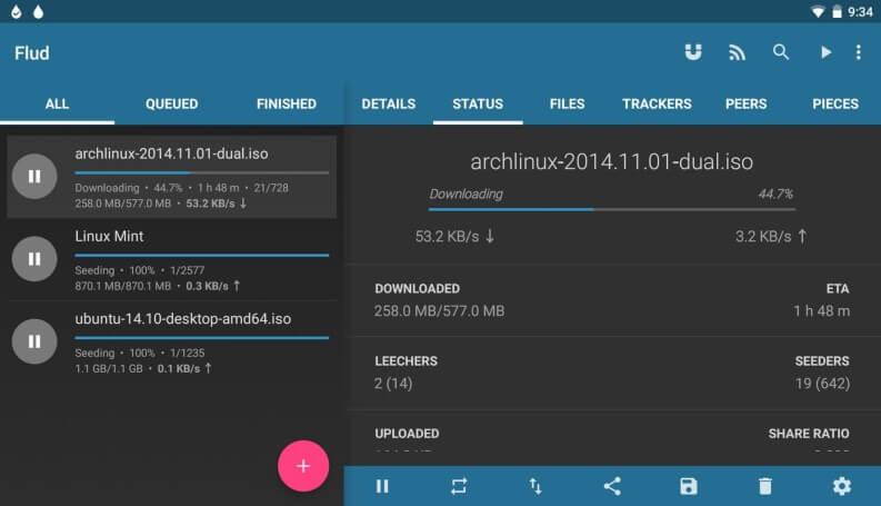 Torrent su Android: client