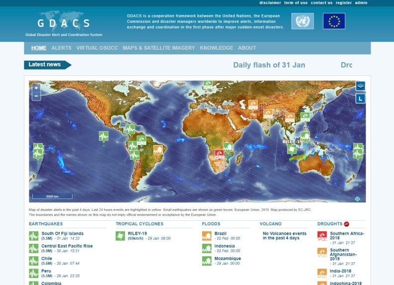 Terremoto oggi: GDACS