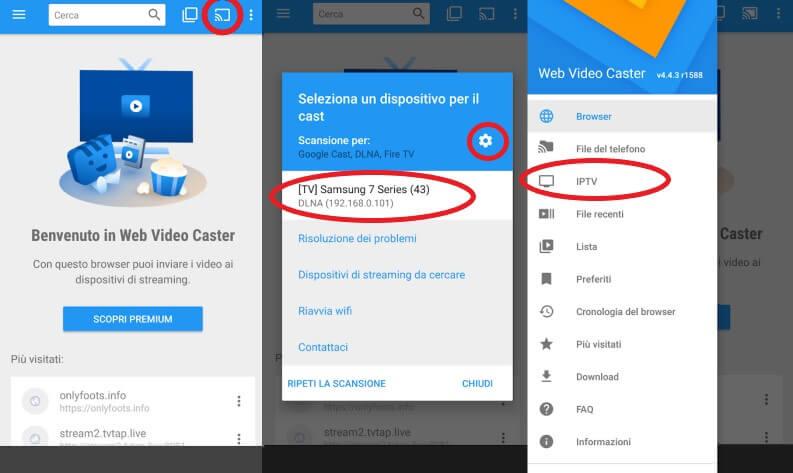 Vedere IPTV su Smart TV: Web Video Caster e DLNA