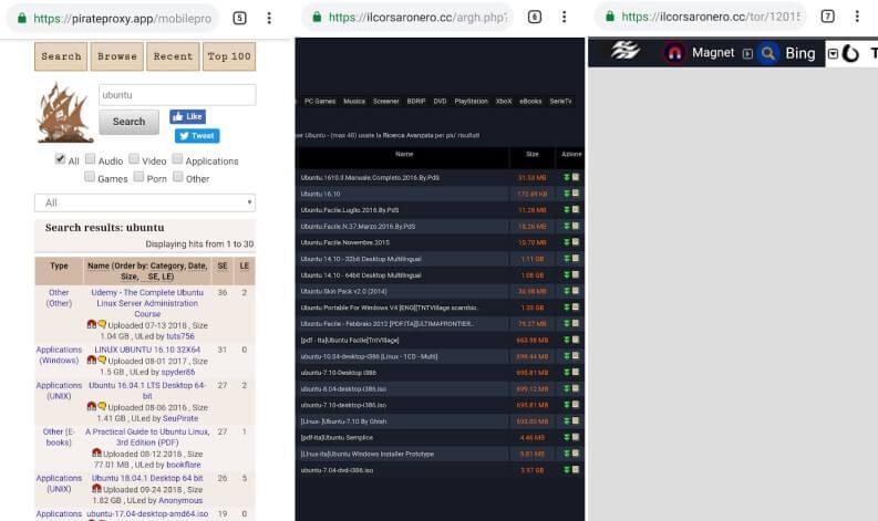 Torrent su Android: siti