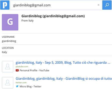 cerca su pipl email